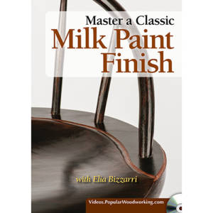 DVD cover for Master a Classic Milk Paint Finish Elia Bizzarri windsor chair