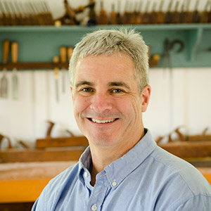 Tom Calisto woodworking instructor at the woodandshop traditional woodworking school