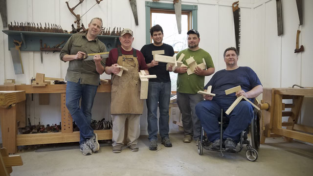 Wood joinery hand tool woodworking class with Joshua Farnsworth
