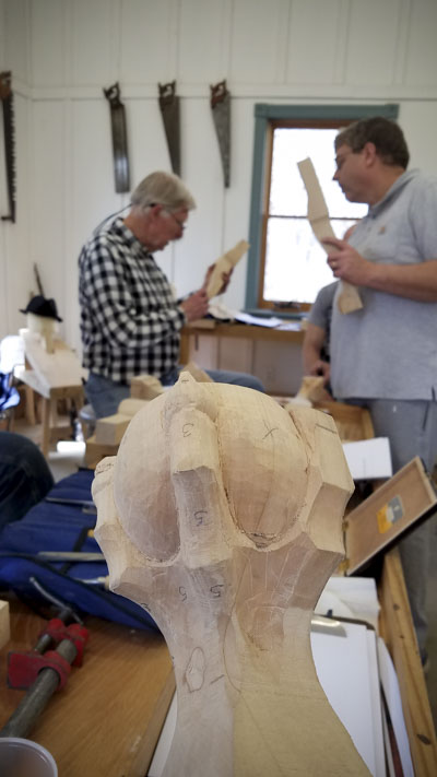 18th Century Wood Carving Class with Kaare Loftheim at the Wood and Shop Traditional Woodworking School