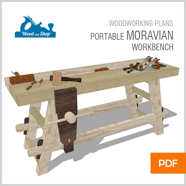 Woodworking plans for the portable Moravian workbench